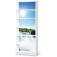creatisto Möbelfolie selbstklebend passend für IKEA Billy Regal 6 Fächer I Möbeldeko - Möbel-Aufkleber Folie Tattoo I Wohndeko für Esszimmer und Wohnzimmer - Design: Niagara Falls