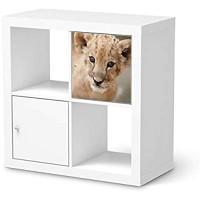 creatisto Möbeltattoo passend für IKEA Kallax Regal 1 Türe I Möbeldekoration - Möbel-Aufkleber Folie Tattoo I Deko DIY für Schlafzimmer Wohnzimmer - Design: Simba