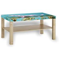 Printalio - Papier Einhorn - Möbelaufkleber für IKEA Lack 90x55cm Beistelltisch bekleben Fotomotivaufkleber | Fotosticker Bedruckt