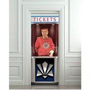 LUCKYYL Türaufkleber Ticketschalter Einweiser Kino Wohnkultur Für Schlafzimmer Bad Abnehmbare Tür Wrap 38 5X200 cm × 2 Teile/Satz
