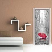 oumomy 3D TüRaufkleber Turm Selbstklebende Wandbild Inneneinrichtung Wandaufkleber Schlafzimmer Wohnzimmer Abnehmbare Plakatkunst Aufkleber-90x200cm