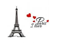 Eiffelturm I Love Paris Wandaufkleber wasserdicht abnehmbar Wandaufkleber Heimdekoration 22 9 x 38 1 cm