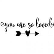 MOVANKRO Wandaufkleber mit Zitaten und Zitaten von You are so Loved