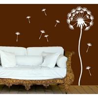 wandtattoo-factory Pusteblume mit 10 Flugsamen 100 x 30cm - Farbe: Weiss