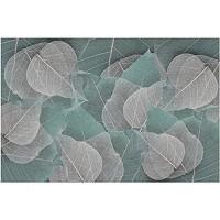 Fototapete Vliestapete 3D Geometrische Kunst Hinterlässt Abstraktes Muster Fototapete 3D Effekt Tapeten Wanddeko Wandbilder Schlafzimmer 380x256cm