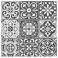 Wandaufkleber selbstklebende Tapete Kunst-Dekor Handwerk für Zuhause und Raumdekoration 20 Stück Retro-Bodenfliesen Wandaufkleber selbstklebende Aufkleber CRY019 15 x 15 cm 15 x 15 cm