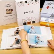 4X6 Familie Memorial Buch Baby Wachstum Fotoalbum Liebhaber Valentinstag Geschenk 200 Sheets Bilder Lagerung Sammelalbum Interleaf Typ Fotoalben