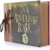 80 seiten Retro Unsere Abenteuer Buch Fotoalbum Handgemachte DIY Familie Sammelalbum für Weihnachten Jahrestag Hochzeit Geburtstag Fotoalben