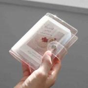 Gelee Farbe Fotoalbum für Mini Karte Foto Aufkleber Album Mini Fotoalbum Fotos Instax Album Transparent Glitter Karte Halter Fotoalben