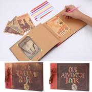 Vintage Kraft Papier Blätter Card Unsere Mein Abenteuer Buch Fotoalbum Handgemachte Pixar DIY Foto Sammelalbum Fotoalbum Fotoalben