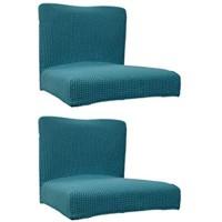 Fenteer 2pcs Stretch Stuhlhussen Stuhlüberzug Stuhlbezug Abdeckung für Barhocker Stuhl