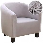 JuneJour Sesselschoner Sesselhusse Sesselüberwürfe Sesselbezug Sofabezug Jacquard Elastisch Stretch Husse für Cafe Stuhl Sessel