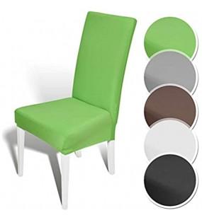 Melody Stuhlhusse Stuhlüberzug kurz grün Stuhlbezug Stretchhusse Husse elastisch 6er Set #4006