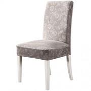 OSVINO Kristall Samt Velvet Stuhlhussen mit dem prächtige Muster Stretch Stuhlbezug Modern und langlebig hellgrau 4er Pack