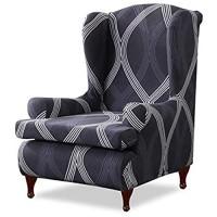 PETCUTE Ohrensessel Husse Ohrensessel Bezug Stretch Sesselhussen Sessel Bezug Husse für Ohrensessel Antirutsch Spandex Sesselbezug