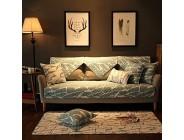 J&DS Sofa Couch Baumwolle Slipcover Spandex Stoff Möbel Protector Schildmaschine Waschbar-Einzelstück D 70x210cm28x83inch