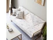 MA&MA Baumwolle Sofa Decken Gesteppter Sofabezug Kreative Marmor Muster Anti-Rutsch Schnitt Couch-Abdeckung Slipcover beschtzer Dekorative Wohnzimmer-B 90x210cm35x83inch