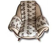 Alpenwolle Sesselschoner Olivenblätter mit Taschen Kaschmir Anteil Überwurf Sitzauflage Polsterschoner