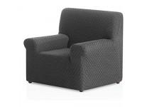 Bartali Stretch Sesselhusse Olivia - Farbe Grau - 1 Sitzer von 50 bis 90 cm