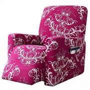 HALOUK Stretch Sesselschoner Bedruckt Sesselbezug für Relaxsessel 1 Stück Weich Antirutsch Elastisch Bezug Sessel-Überwürfe für Liege Sessel-Rose rot