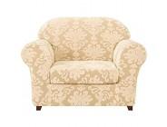 R&P 1 Sitzer Sesselbezug Jacquard Sofabezug Elastisch Sesselschoner Sesselhussen Gelb