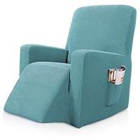 Sesselbezug Stretch Sesselschoner Für Relaxsessel Sesselüberwürfe Elastisch Bezug Für Fernsehsessel Liege Sessel Liegestuhl Abdeckung Gray Blue