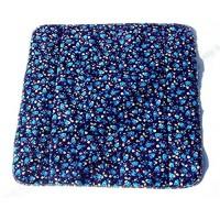 MEX-LINE Inkontinenz Stuhlauflage Design: Rose der Nacht dunkelblau wasserdichte Sitzauflage/Sitzkissen/Nässeschutz waschbar und wiederverwendbar ca. 45 x 45 cm