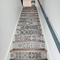 13 teile/satz Fliesen Aufkleber 3D Treppen Aufkleber Wasserdicht Abnehmbare Selbst adhesive Wand Boden Aufkleber Wand Aufkleber Wohnkultur 18*100 cm Wandaufkleber