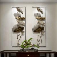 Chinesische 3D Schmiedeeisen Lotus Blatt Wandbild Dekoration Hause Wohnzimmer Wand Hängen Ornamente Hotel Veranda Wand Aufkleber Handwerk Wandaufkleber