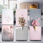 Mode Ins Selbstklebende Kühlschrank Aufkleber Kühlschrank Sanierung Wrap Gefrierschrank Aufkleber Kunst Kühlschrank Tapete Abnehmbare Wandaufkleber