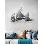 Moderne Kreative Schmiedeeisen Segelboot Wandbild Hotel Wand Hängen Handwerk Hause Wohnzimmer Hintergrund 3D Wand Aufkleber Dekoration Wandaufkleber