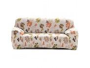 Cornasee Elastischer Sofabezug 4 Sitzer Sofa-Überwürfe Sofahusse Couchhusse Spannbezug für Sofa mit Armlehne Blumendruck D