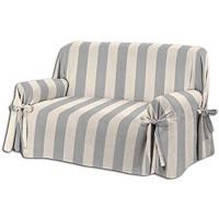 Homelife Sofabezug Beige Grau & Couch Überzug | weicher Sessel & Sofa Überzug & Sofaüberwurf Decke gestreift | Sofa Überwurf aus angenehmer Baumwolle | schöne Sofa Cover Abdeckung