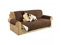 Interlink-UK 3 Sitzer Sofaschoner Sesselschoner Sofaüberwurf Sofa Schonbezug Sofadecke 3 Sitzer Hellbraun