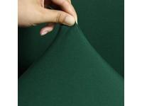 lanying Elastischer Sesselbezug Stretch Sofa-Überwürfe High Stretch Sofabezug Möbelschutz waschbare Sitzbezug-011 dunkelgrün_3-Sitzer 190-230cm