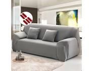 Mald Sofabezug Sofahusse Sofaabdeckung Sesselbezug Sesselhusse Sofaüberwurf Stretch Elastisch 3 sitzer 190-230cm Grau