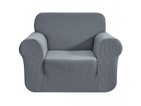 Topfinel Elastisch Stretch Sofabezug Sofaüberwurf Sesselbezug Couchbezug für Sofalänge 80-120cm Grau