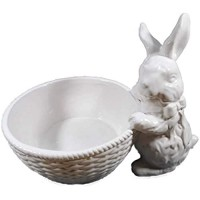 Porzellan Schale Hase 20 x 16 cm Ostern Eier Gebäck Bonbon Schüssel Tier Figur Deko F01
