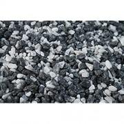 Doubleyou Geovlies & Baustoffe 5kg Dekosteine schwarz weiß Mix 6-16mm wählbar auch 1kg - 10kg - 20kg