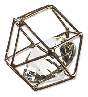 Eurosand Diamant IM METALLGITTER. 2 5 cm / 3 5 cm. Geometrisch. Brillant Metal Shape Rhomboid. 6 Stück Gold -39