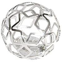 Eurosand Diamant IM METALLGITTER. 2 5 cm / 4 2 cm. Kugel. Geometrisch. Brillant Metal Shape. 6 Stück. Silber
