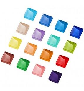 TsunNee 0 45KG dekorative Glasgranulate Steinperlen in gemischten Farben quadratische Vasen-Nuggets Mosaikfliesen DIY-Steinedelsteine für das Hochzeitsgarten-Gedenkaquarium im Hausgarten