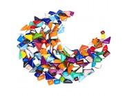 TsunNee 0 5KG dekorative Glasgranulate Steinperlen in lebendigen Farben Vasen-Nuggets in gemischten Formen Mosaikfliesen DIY-Steinedelsteine für das Hochzeitsgarten-Gedenkaquarium im Hausgarten