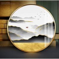 30 40 50cm Gebürstet metall foto Wand Runde Foto Rahmen Metall Wohnzimmer Kreative Wand Hängen Bilderrahmen Wand dekoration Rahmen