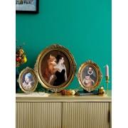 6/7/12 zoll Europäischen Palace Vintage Foto Rahmen Harz Familie Porträt Nachttisch Ovale Wand Hängen Bild Rahmen Home Decor Rahmen