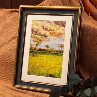 Amerikanischen Retro Große Bild Rahmen Skizze Ölgemälde Rahmen Familie Wand Hängen Exquisite Foto Rahmen Zimmer Decor Zertifikat Rahmen