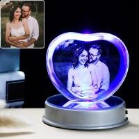 Angepasst K9 Kristall Foto Rahmen LED Basis Laser Eingraviert Bild Hause Dekoration Personalisierte Hochzeit Foto Rahmen Rahmen