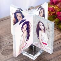 Gedreht Windmühle Kristall Foto Rahmen Glas Album für Bilder Rahmen Freunde Ungewöhnliche Personalisierte Geschenk Halten 4 Pic Nach Maß Rahmen