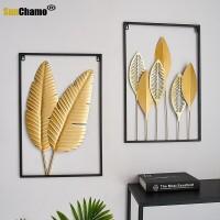 Nordeuropa Licht Luxus Wind Kreative Metall Blatt Wand Dekoration Restaurant Gang Wand Atmosphärischen Eisen Dekoration Anhänger Rahmen