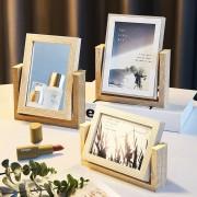 Nordic Einfache Holz Spiegel Pgoto Rahmen Bilderrahmen Schlafzimmer Wohnzimmer Wohnkultur Moderne 6 Inch 7 Inch Kunst Bild rahmen Rahmen